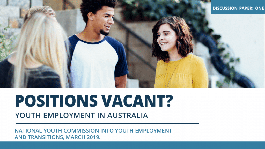 Positions Vacant? Youth Employment in Australia